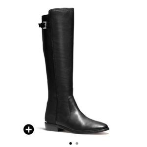 Coach Lilac Black Riding Boots